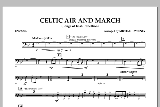Celtic Air and March (Songs of Irish Rebellion) - Bassoon (Concert Band)