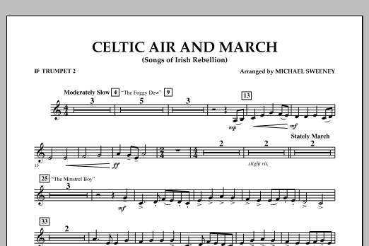 Celtic Air and March (Songs of Irish Rebellion) - Bb Trumpet 2 (Concert Band)