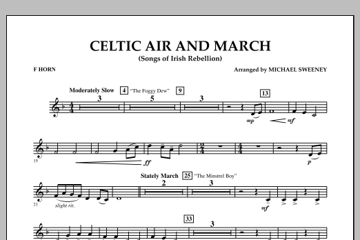 Celtic Air and March (Songs of Irish Rebellion) - F Horn (Concert Band)