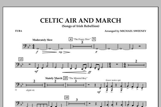 Celtic Air and March (Songs of Irish Rebellion) - Tuba by Michael Sweeney  Concert Band Digital Sheet Music