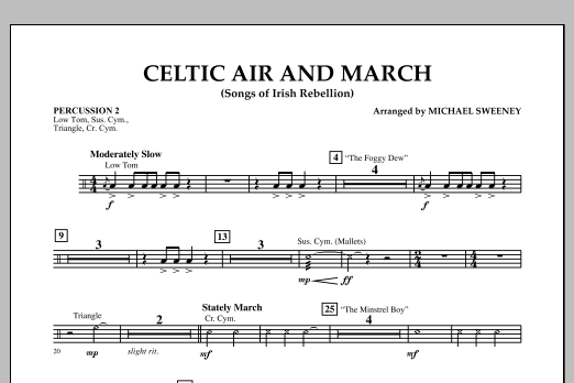 Celtic Air and March (Songs of Irish Rebellion) - Percussion 2 (Concert Band)