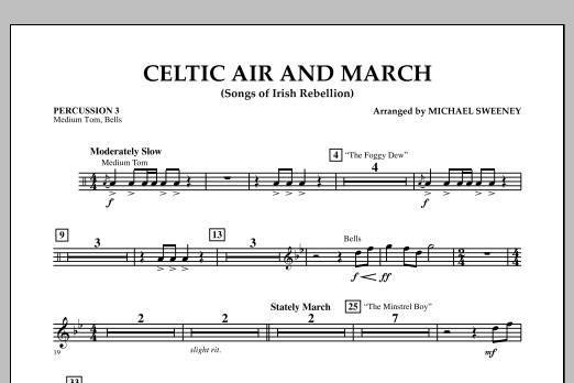 Celtic Air and March (Songs of Irish Rebellion) - Percussion 3 (Concert Band)