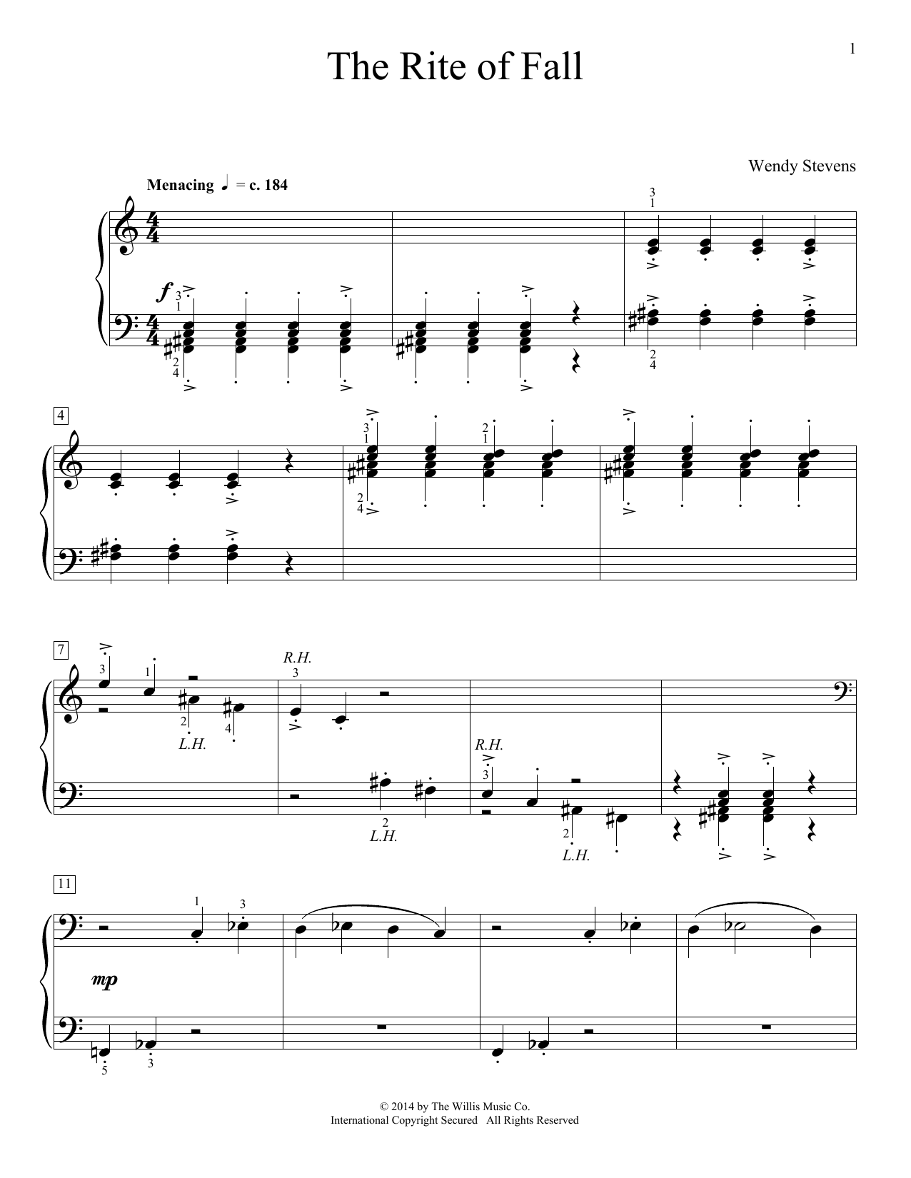 The Rite Of Fall Sheet Music