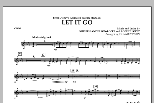 Let It Go (from Frozen) - Oboe (Concert Band)