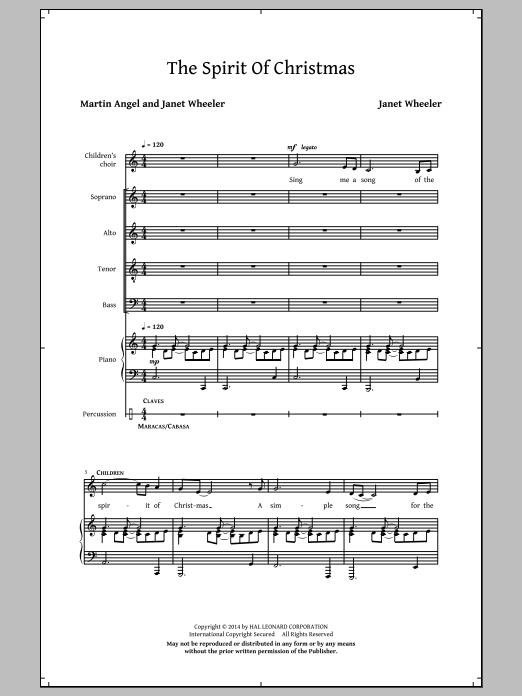 Partition chorale The Spirit Of Christmas de  - SATB