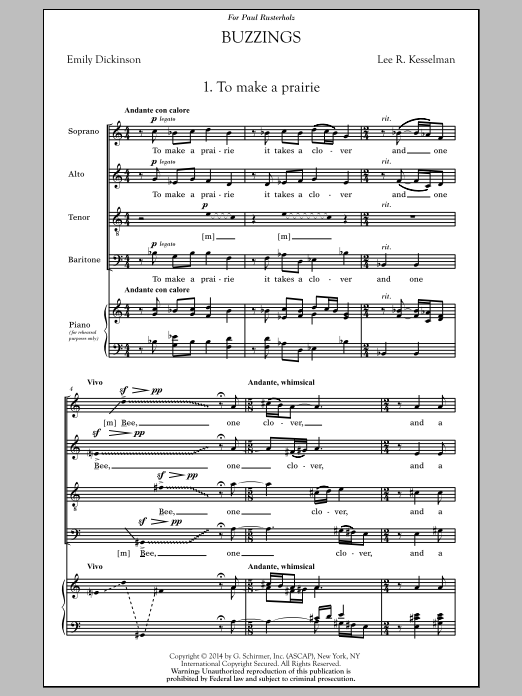 Buzzings Sheet Music