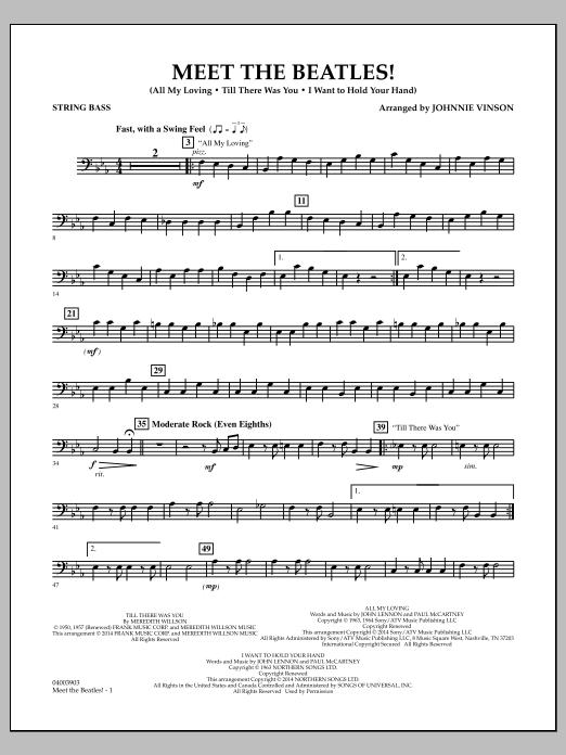 Meet the Beatles! - Bass (Concert Band)
