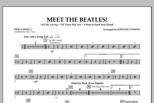 Meet the Beatles! - Percussion 2 (Concert Band)