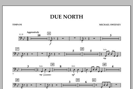 Due North - Timpani (Concert Band)
