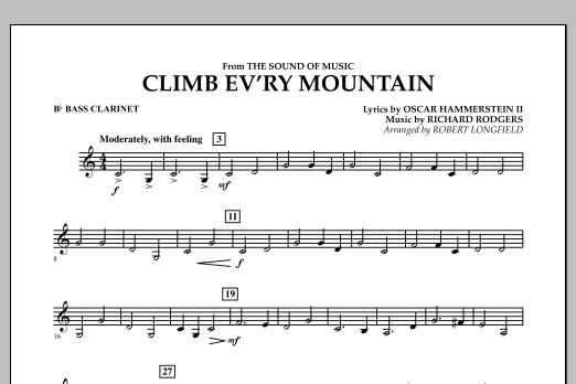 Climb Ev'ry Mountain (from The Sound of Music) - Bb Bass Clarinet (Concert Band)