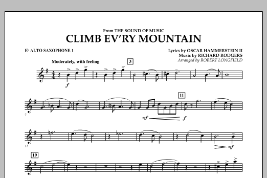 Climb Ev'ry Mountain (from The Sound of Music) - Eb Alto Saxophone 1 (Concert Band)