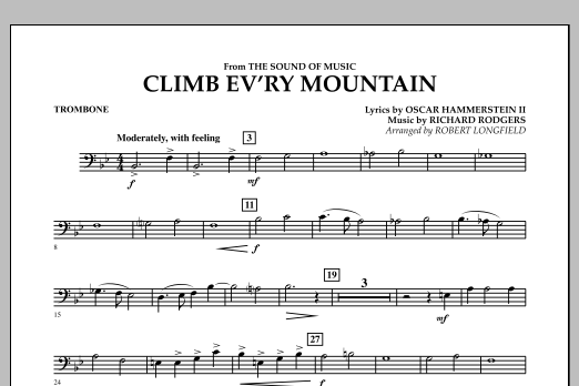 Climb Ev'ry Mountain (from The Sound of Music) - Trombone (Concert Band)