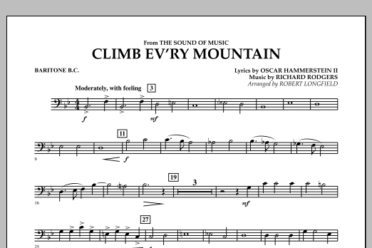 Climb Ev'ry Mountain (from The Sound of Music) - Baritone B.C. (Concert Band)