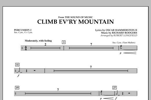 Climb Ev'ry Mountain (from The Sound of Music) - Percussion 2 (Concert Band)