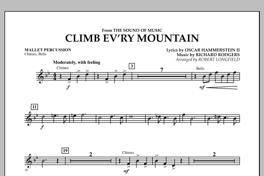 Climb Ev'ry Mountain (from The Sound of Music) - Mallet Percussion (Concert Band)