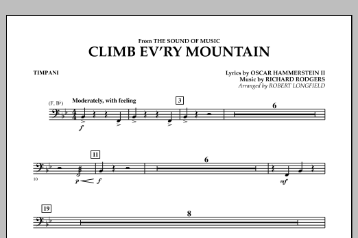 Climb Ev'ry Mountain (from The Sound of Music) - Timpani (Concert Band)