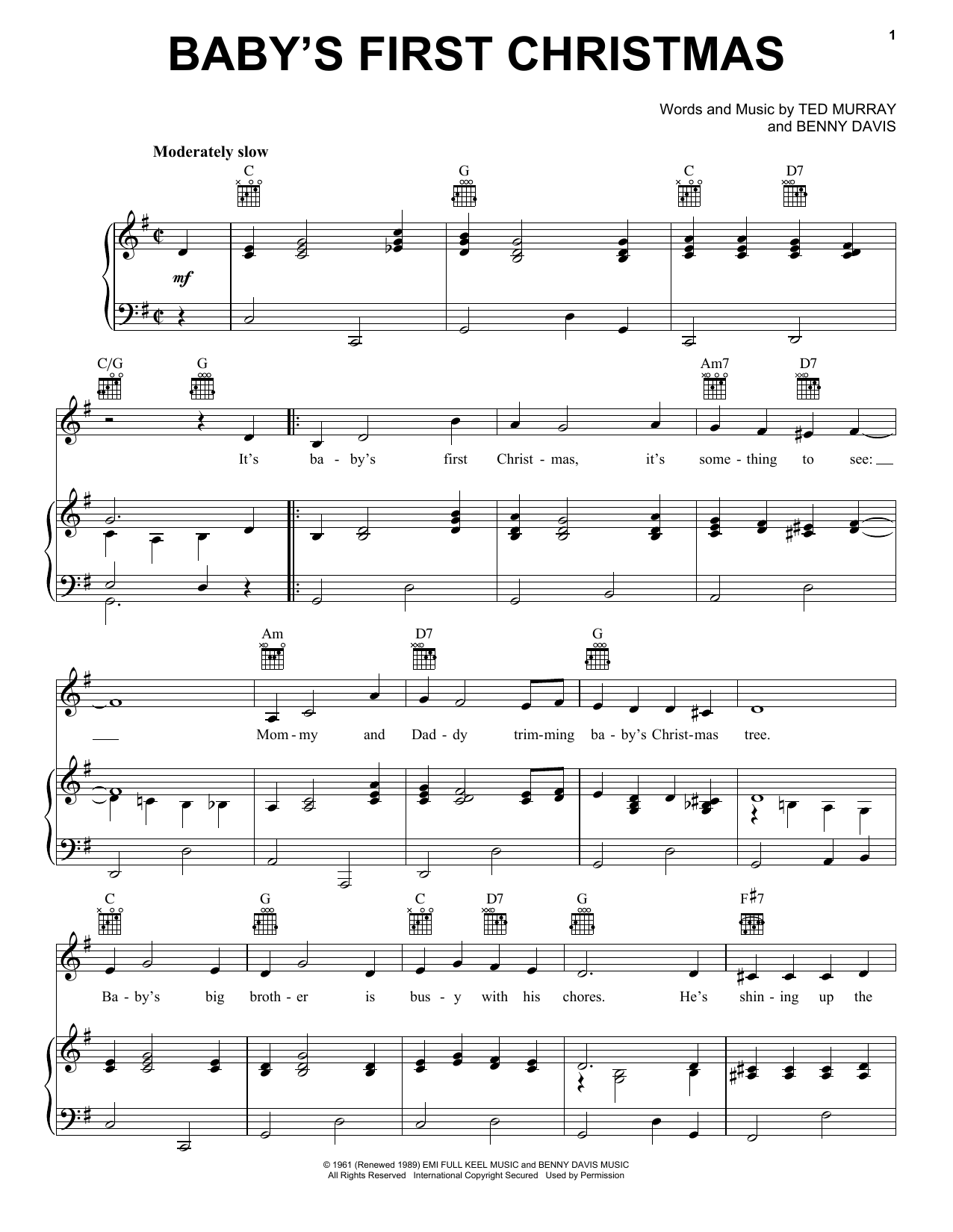 Baby's First Christmas Sheet Music