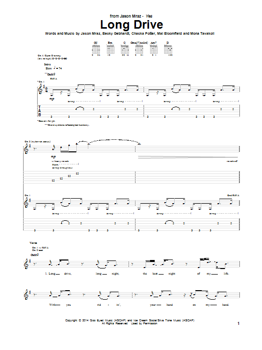 Long Drive Sheet Music
