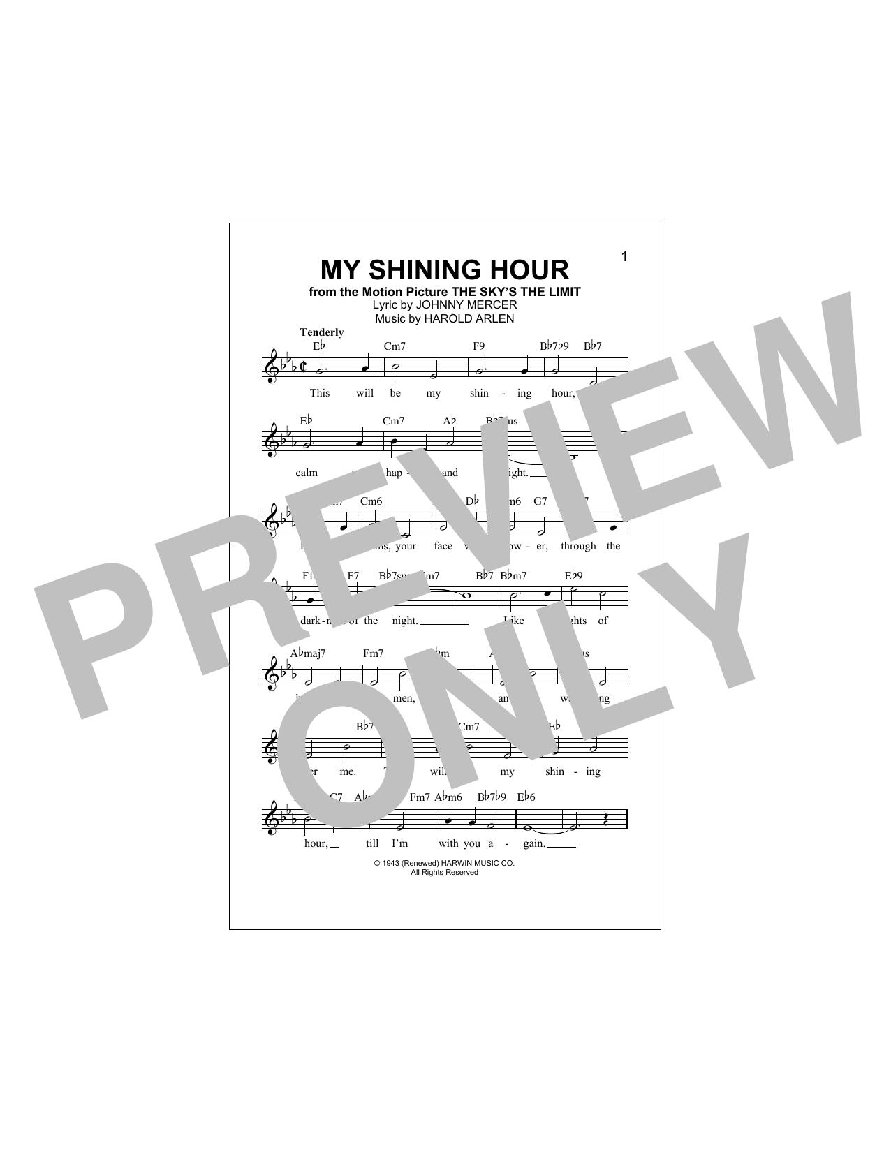 My Shining Hour Sheet Music