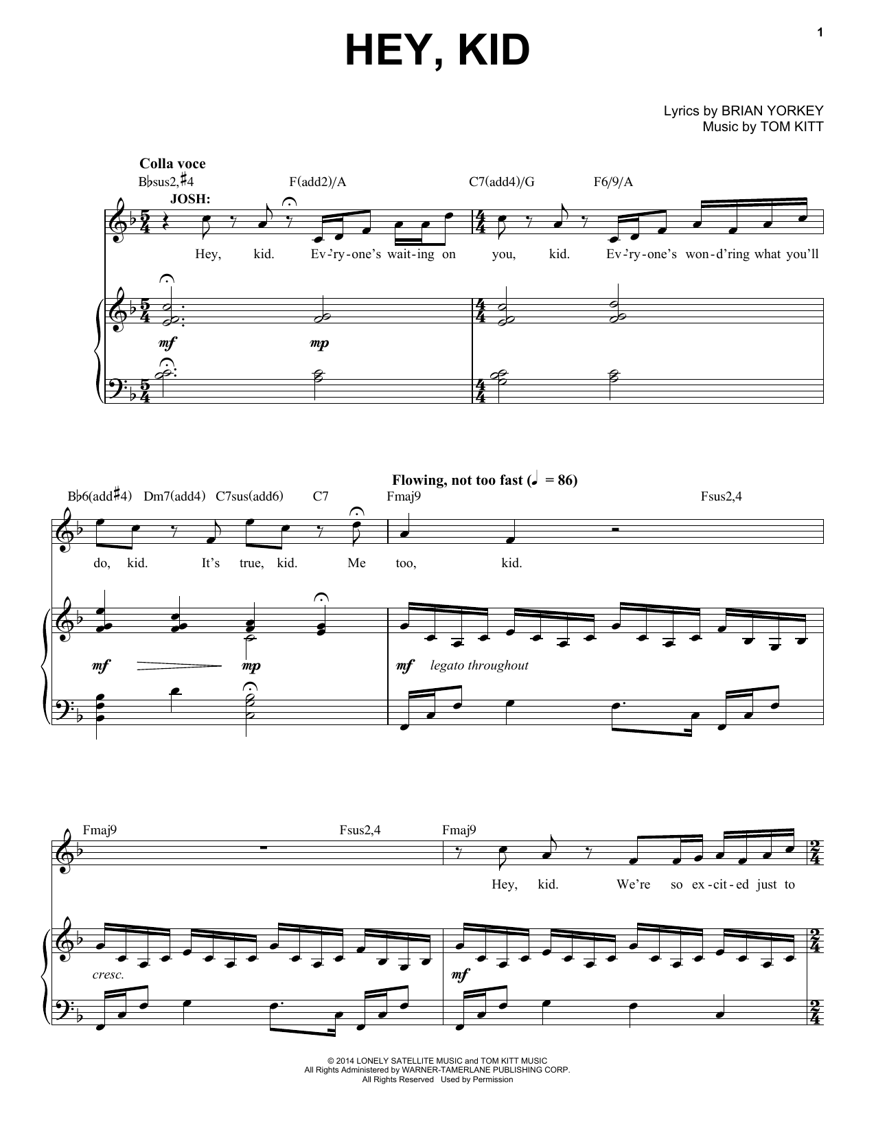 Hey, Kid (from If/Then) Sheet Music