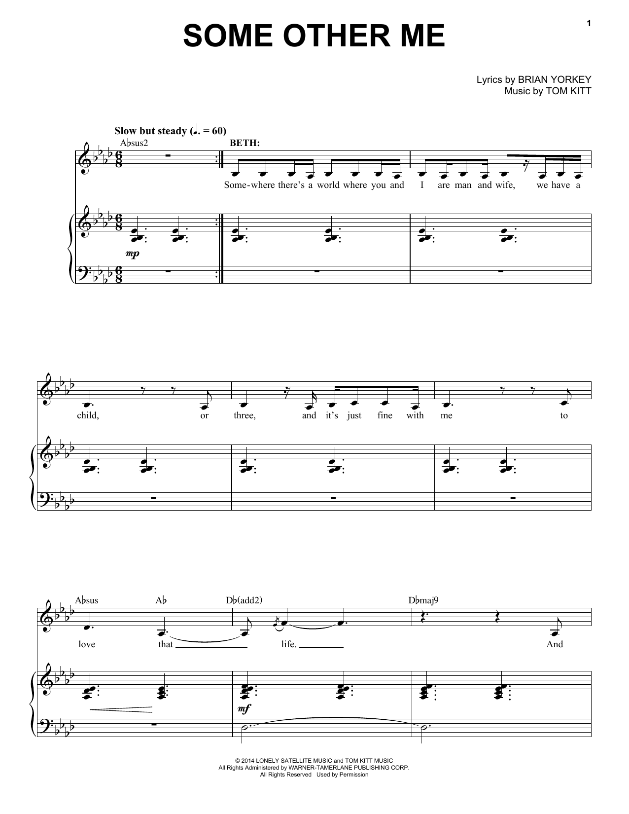 Some Other Me (from If/Then) Sheet Music