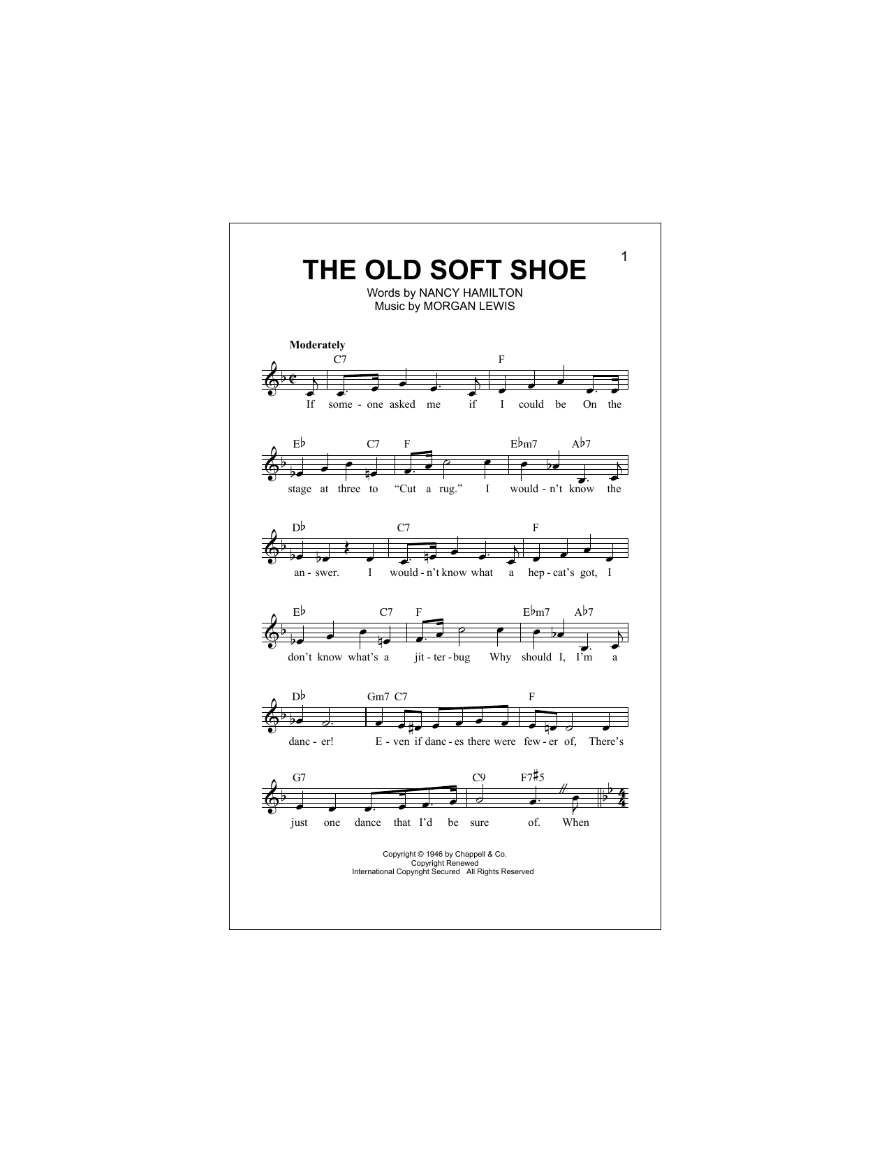 The Old Soft Shoe Sheet Music