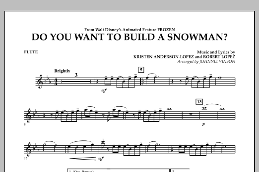 Do You Want to Build a Snowman? (from Frozen) - Flute (Concert Band)