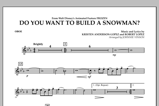 Do You Want to Build a Snowman? (from Frozen) - Oboe (Concert Band)