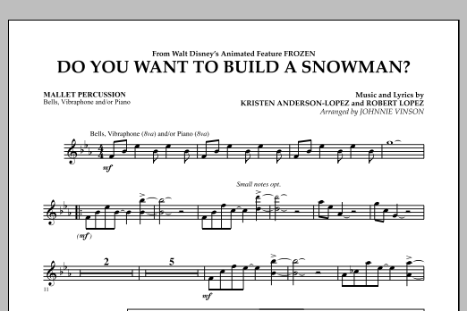 Do You Want to Build a Snowman? (from Frozen) - Mallet Percussion (Concert Band)