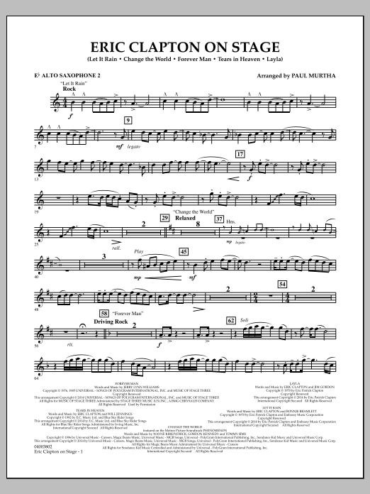 Eric Clapton on Stage - Eb Alto Saxophone 2 (Concert Band)