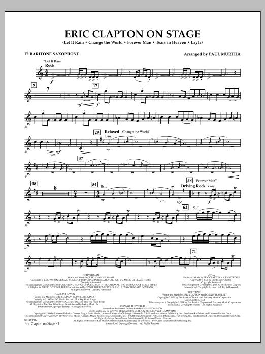 Eric Clapton on Stage - Eb Baritone Saxophone (Concert Band)