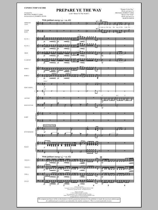 "Prepare Ye The Way (with ""Shout To The North"") - Score Sheet Music"
