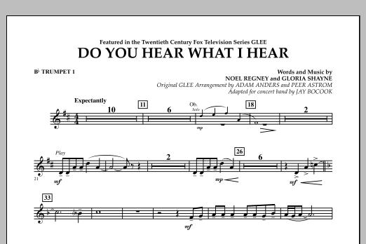 Do You Hear What I Hear? - Bb Trumpet 1 (Concert Band)