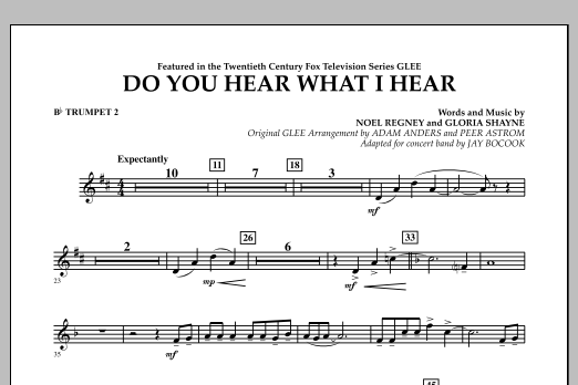 Do You Hear What I Hear? - Bb Trumpet 2 (Concert Band)
