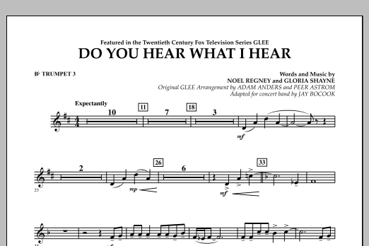 Do You Hear What I Hear? - Bb Trumpet 3 (Concert Band)