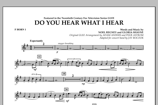 Do You Hear What I Hear? - F Horn 1 (Concert Band)