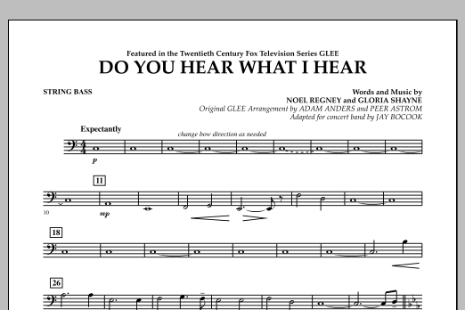 Do You Hear What I Hear? - String Bass (Concert Band)