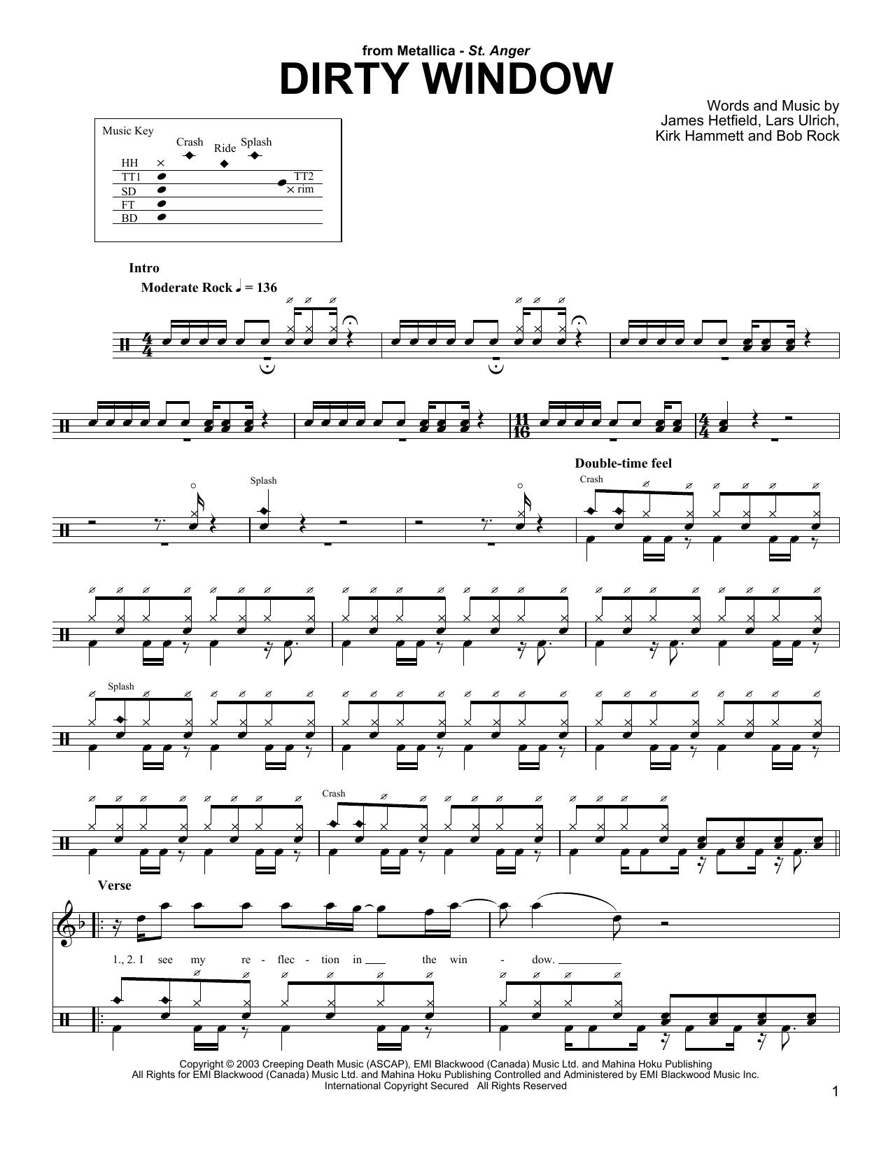 Dirty Window (Drums Transcription)