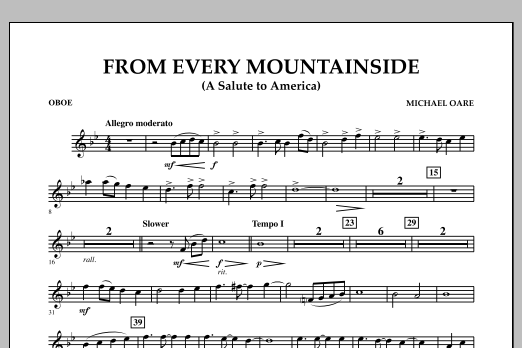 From Every Mountainside (A Salute to America) - Oboe (Concert Band)