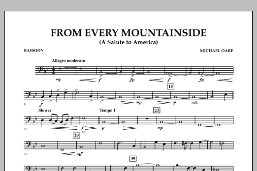 From Every Mountainside (A Salute to America) - Bassoon (Concert Band)