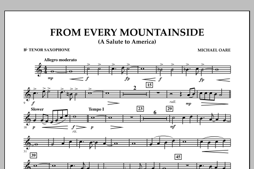 From Every Mountainside (A Salute to America) - Bb Tenor Saxophone (Concert Band)