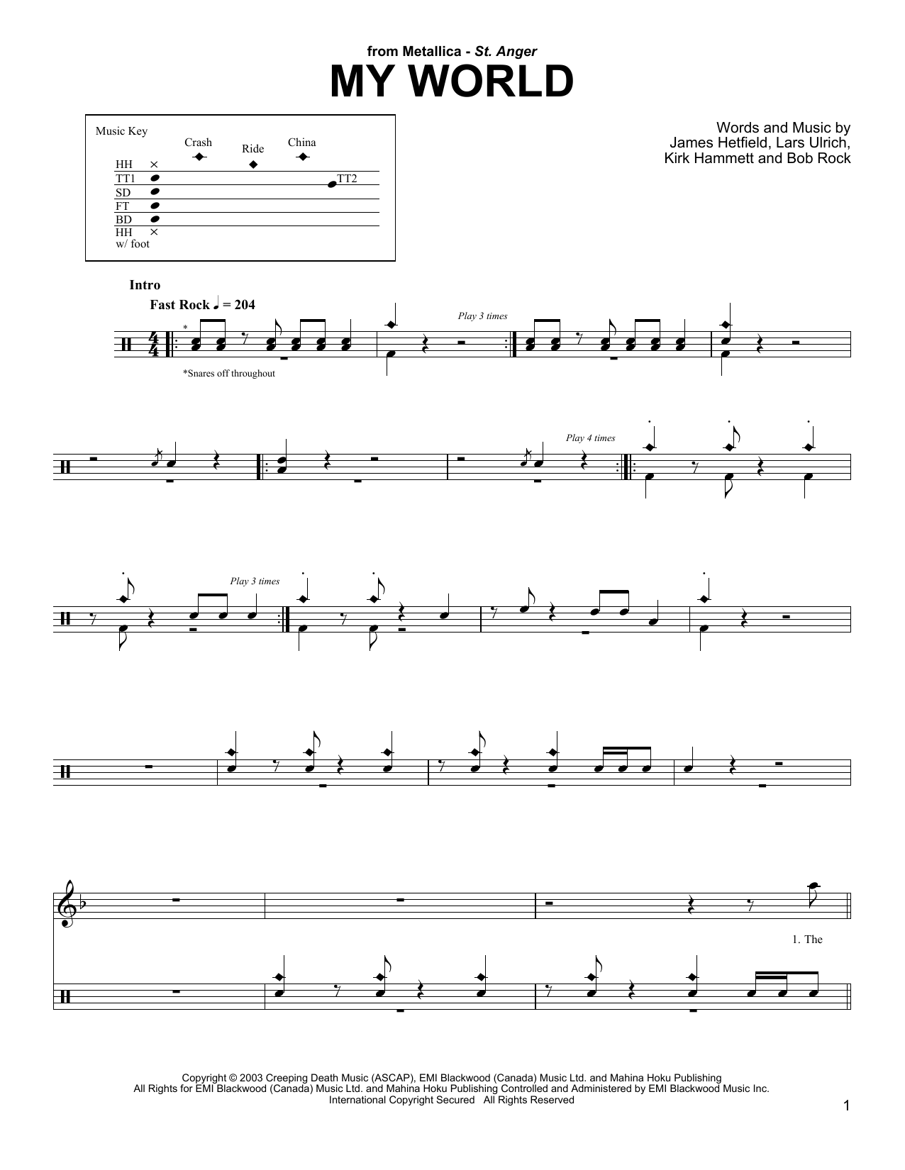 My World (Drums Transcription)