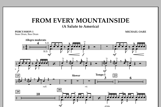 From Every Mountainside (A Salute to America) - Percussion 1 (Concert Band)