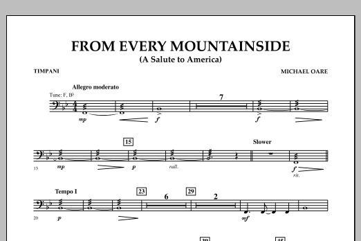 From Every Mountainside (A Salute to America) - Timpani (Concert Band)