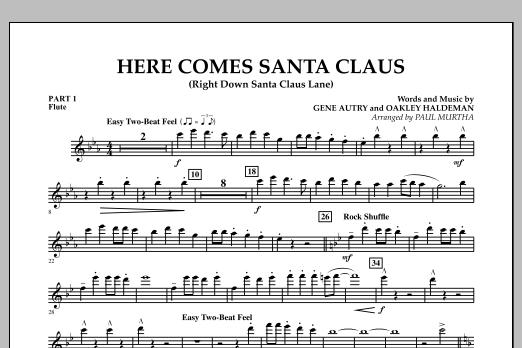 Here Comes Santa Claus (Right Down Santa Claus Lane) - Pt.1 - Flute (Concert Band: Flex-Band)