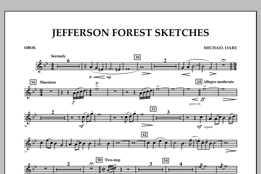 Jefferson Forest Sketches - Oboe (Concert Band)