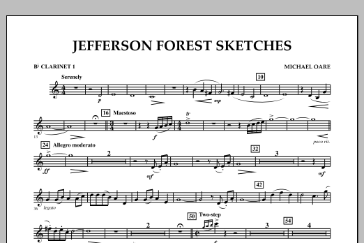 Jefferson Forest Sketches - Bb Clarinet 1 (Concert Band)