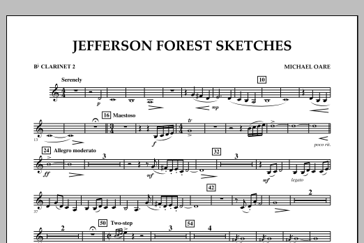 Jefferson Forest Sketches - Bb Clarinet 2 (Concert Band)