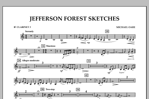Jefferson Forest Sketches - Bb Clarinet 3 (Concert Band)