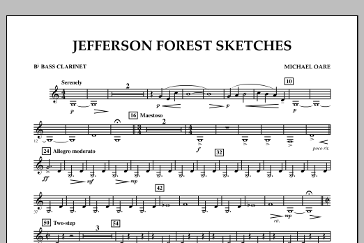 Jefferson Forest Sketches - Bb Bass Clarinet (Concert Band)